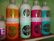 Маска для волос kallos color,  algae,  silk,  keratin hair mask. 1 литр.